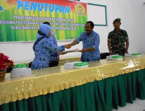 Penutupan Praktik Kerja Lapangan Terpadu (PKLT) Poltekkes Palu 2017
